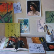 070707-art-books-corner-of-artist-room-table
