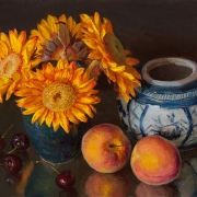 181126-sunflower-peaches-cherries-oriental-jar-12x9