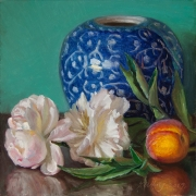101116-peony-flower-ceramic-pot-peach-10x10