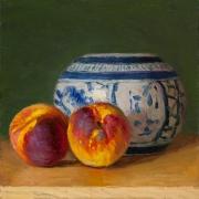 190202-peaches-oriental-ceramic-pot-8x8