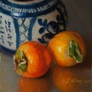 190313-two-persimmons-with-a-oriental-ceramic-pot-6x6