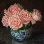 190510-pink-rose-in-a-oriental-pot-10x10