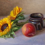 191104-sunflower-peach-ceramic-jar-10x8