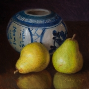 191219-two-pears-with-an-oriental-pot-8x8