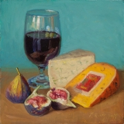 200102-figs-red-wine-cheese-food-painting-8x8