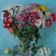 200415-daily-flower-in-a-glass-vase-blue-background-16x20