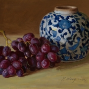 200618-grapes-oriental-ceramic-pot-10x8