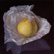 210327-an-asian-pear-in-wrapping-papper-7x5