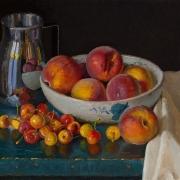 210723-cherries-peaches-metal-pitcher-14x11