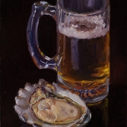210728-oyster-and-a-cup-of-beer-6x8